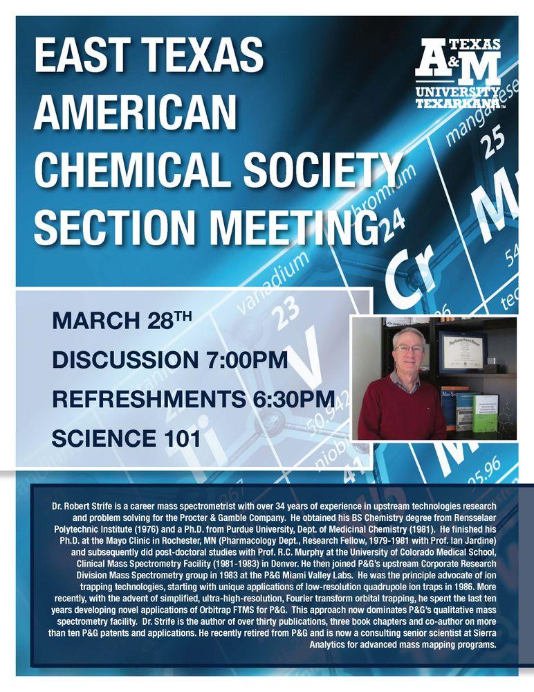 Next East Texas ACS Section Meeting