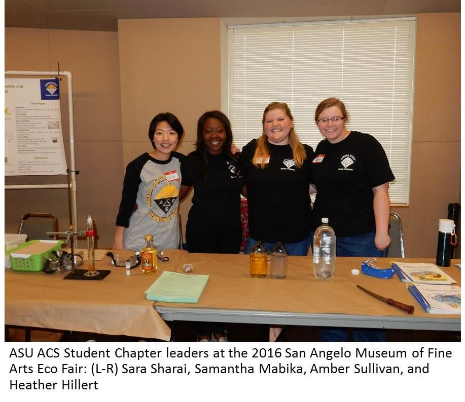 Angelo State University's Green Chemistry Engagement Activities