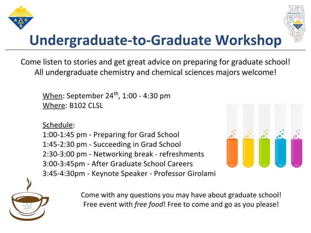 Workshop: Transition from Undergrad to Grad