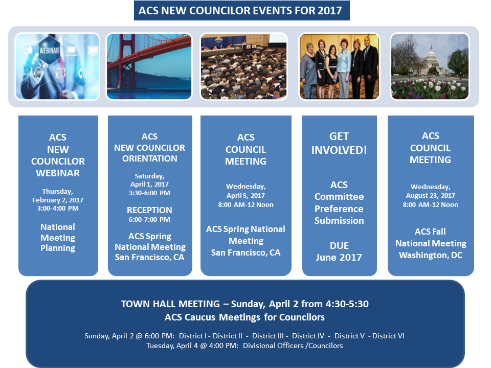 ACS New Councilors Orientation & Reception on Saturday in San Francisco