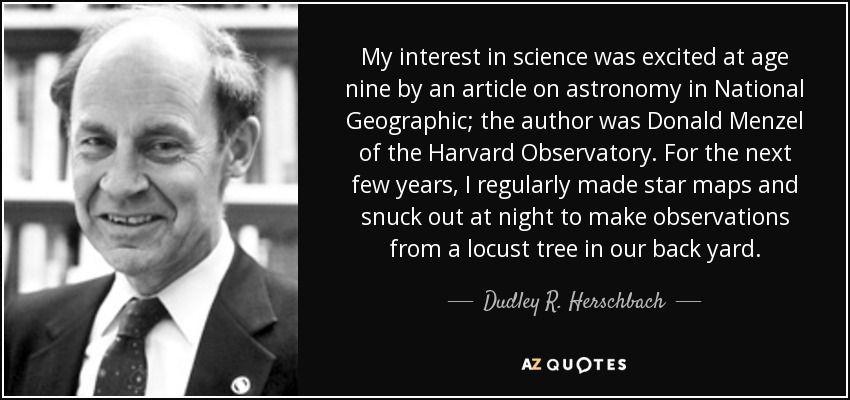 Fun Facts: American Chemist Dudley R. Herschbach