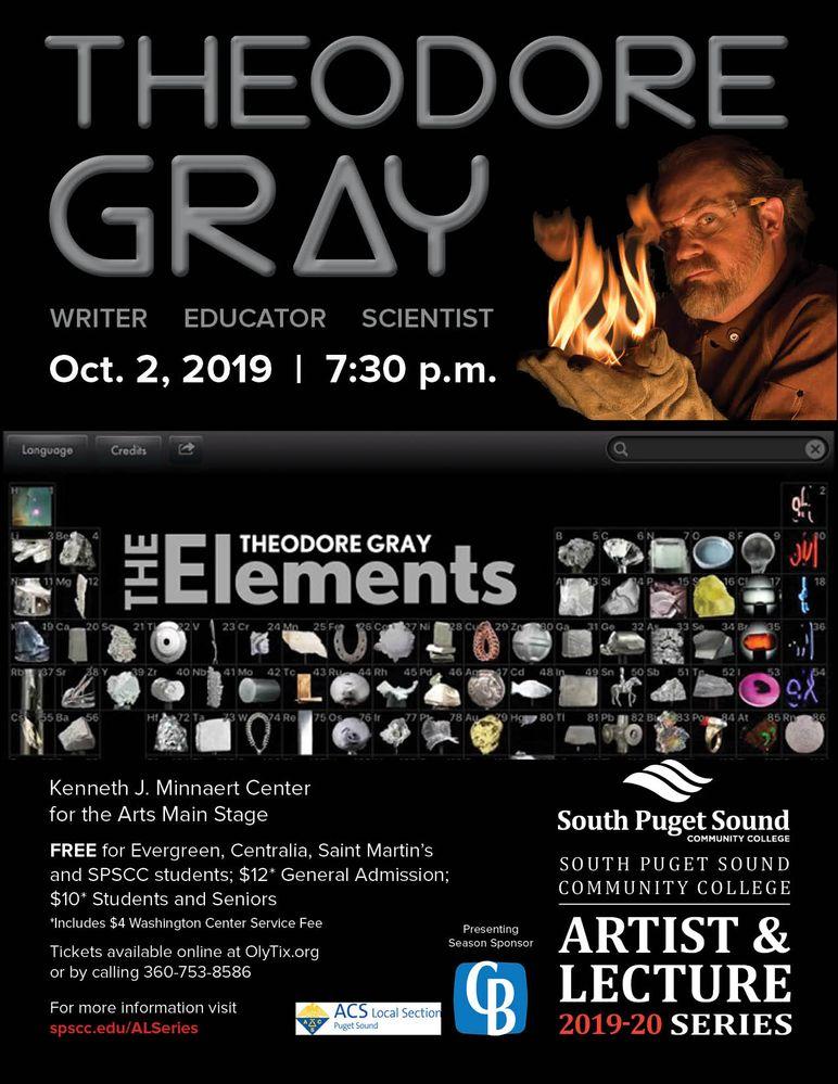 Theodore Gray IYPT Talk - SCSCC - Oct 2nd, 2019