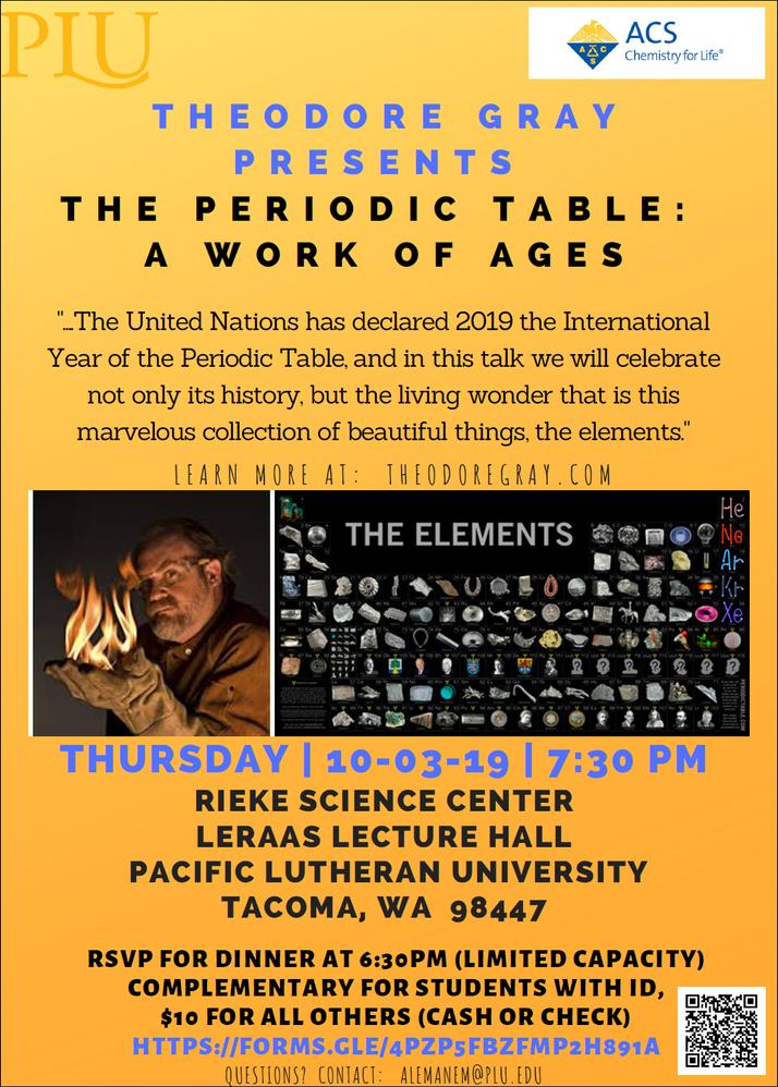 Theodore Gray IYPT Talk - PLU - Oct 3rd, 2019