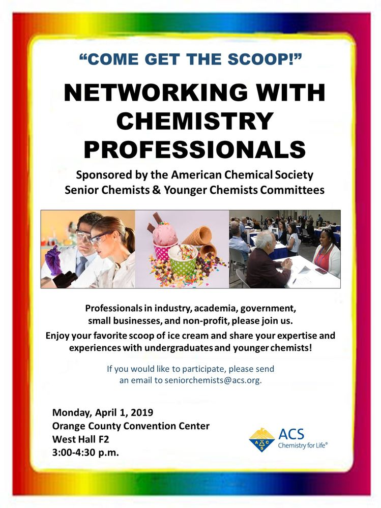 COME GET THE SCOOP! Networking with Chemistry Professionals in Orlando