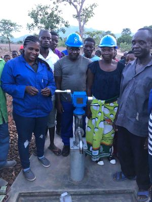 ACS-sponsored LifePump installed in Malawian village. Photo credit: Design Outreach
