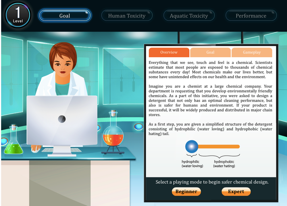 The Safer Chemical Design Game - Gamification of Green Chemistry and Safer Chemical Design Concepts for Students